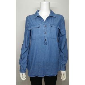 Old Navy Chambray Top Size Small
